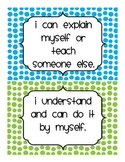 Marzano's scale self check assessment posters
