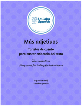 Mas adjetivos - Story cards for reading comprehension and