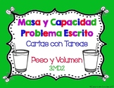 SPANISH Mass & Capacity Word Problem Task Cards (Common Core Aligned) 3.MD.2