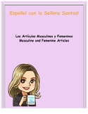 Masculine and Feminine Articles in Spanish Lesson and Worksheet