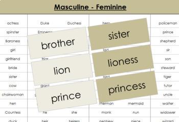 Masculine and Feminine Cards