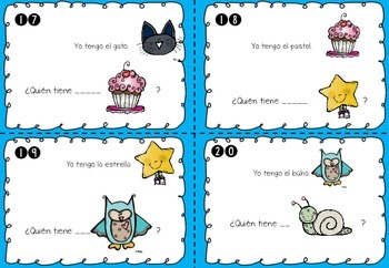 I have, who has? Spanish Gender Nouns Task Cards (El género gramatical)