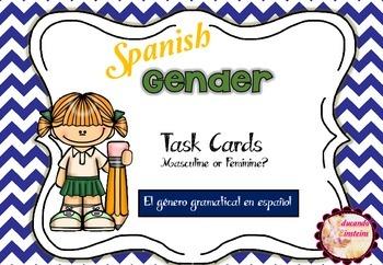 I have, who has? Spanish Gender Nouns Task Cards (El géner