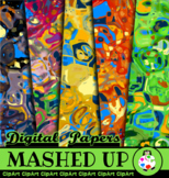 Mash Up Abstract Art Papers