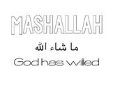 Mashallah bubble letters