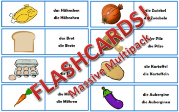 Massive German Flashcards Bundle - 300+ flashcards!