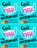 Mask Gift Tag, Back to School Gift Tags, First Day, Mask C