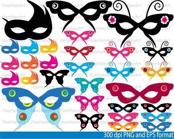 Mask Party super hero Clip Art school halloween birthday invitation Carnival 104