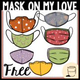 Mask on My Love COVID-19 Clipart - Freebie