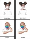 Masked Emotions Montessori 3 Part Cards