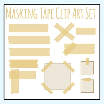 Masking Tape Clip Art Set Commercial Use