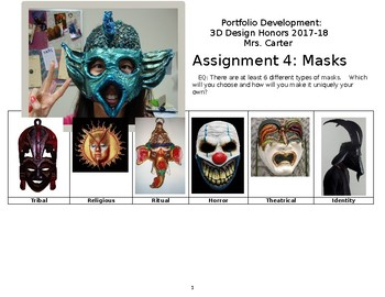 Masks: 3D Design Honors
