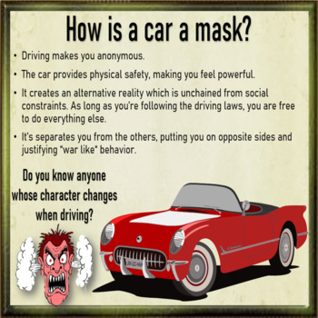Masks - ESL adult conversation power-point lesson
