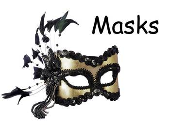 """Masks Nonfiction PowerPoint """"Book"""" for First or Second Grade"""