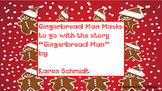 "Masks to go along ""The Gingerbread Man"" by Karen Schmidt"