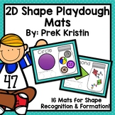 2D Shape Sorting Playdough Mats