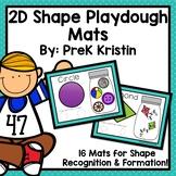 2D Shape Sorting Playdough Mats
