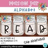 Mason Jar Bulletin Board Letters