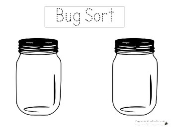 Mason Jar Bug Sorting Activity