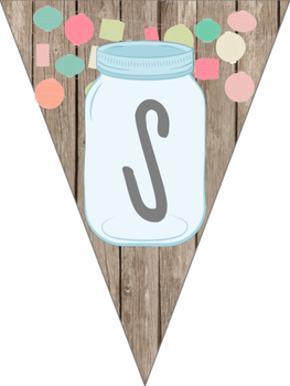 Mason Jar Classroom Theme Science Banner