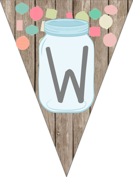 Mason Jar Classroom Theme Welcome Banner