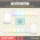 Mason Jar Clipart, Mason Jar Clip Art, Canning Jar Clipart