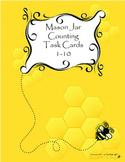 Mason Jar Counting Task Cards 1-10