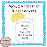 Mason Jar Folder Covers