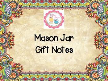 Mason Jar Gift Notes