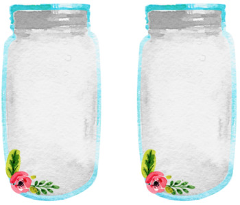Mason Jar Labels with Floral Accent