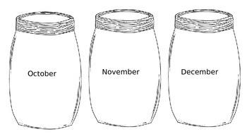Mason Jar Months of the Year