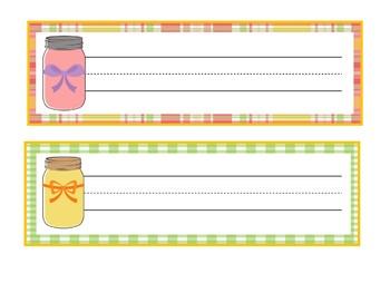 Mason Jar Names | Mason Jar Classroom Theme | Mason Jar Classroom Decor