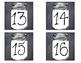 Mason Jar Number Labels