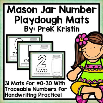 Number (#0-30) Playdough Mats