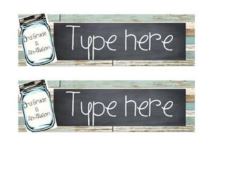 Mason Jar Shiplap Name Tags