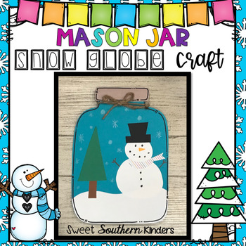 Mason Jar Snow Globe Craft:  Winter Craft: Snowman Craft