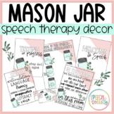 Mason Jar Speech Room Door Signs