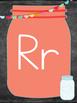 Mason Jar Theme Alphabet Posters (Print Clearly)