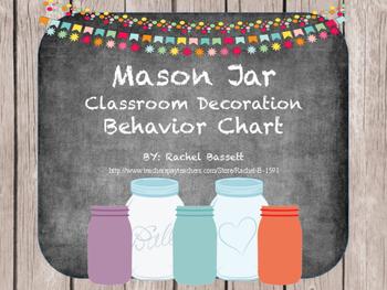 Mason Jar Theme Behavior Chart