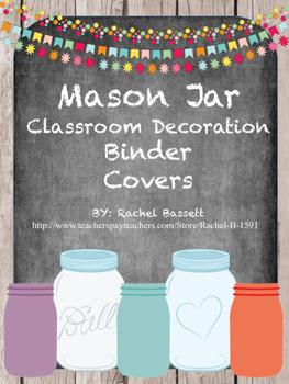 Mason Jar Theme Binder Covers