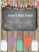 Mason Jar Theme Binder Covers (Editable