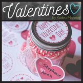 Mason Jar Valentine Label and Tag