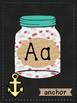 Mason Jar Wall Alphabet Cards