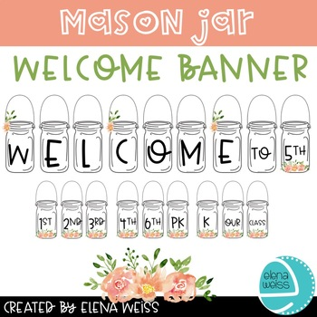 Mason Jar Welcome Banner