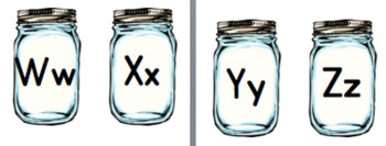 Mason Jar Word Wall Header