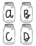 Mason Jar Word Wall Letters