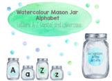 Mason Jar and Watercolour Alphabet