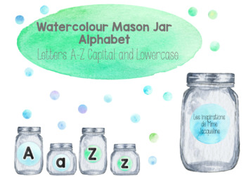 Mason Jar and Watercolour Alphabet