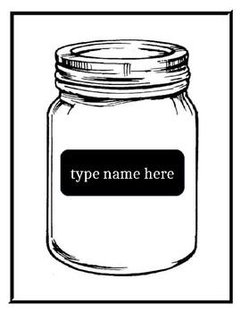 mason jar template editable by sandra castillo tpt