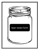 Mason Jar template (editable)